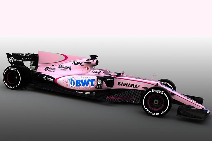 Вновом сезоне в«Формуле-1» появится розовый гоночный болид