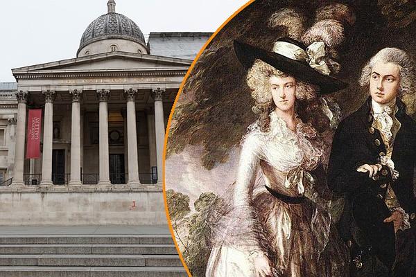 В государственной  галерее встолице Англии  мужчина напал накартину Гейнсборо сотверткой