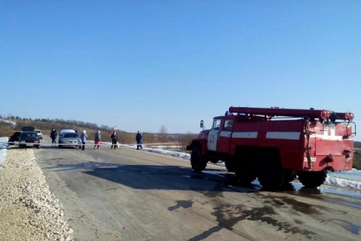 ВМордовии случилось подтопление низководного моста вдеревне Киселевка