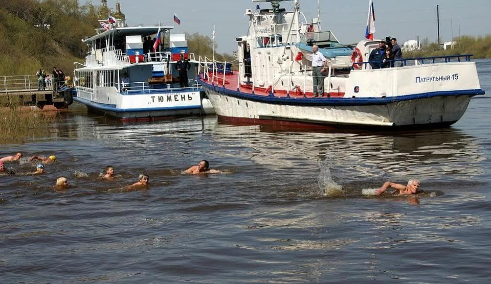Тюменцев зовут совершить заплыв поТуре вчесть Дня Победы