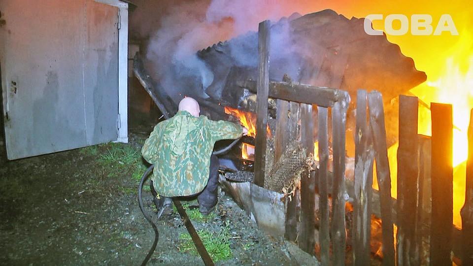 ВЕкатеринбурге снова произошел интенсивный пожар