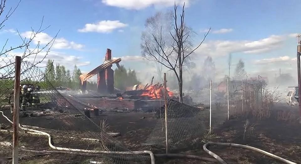 Напожаре вСудогодском районе погибли две женщины
