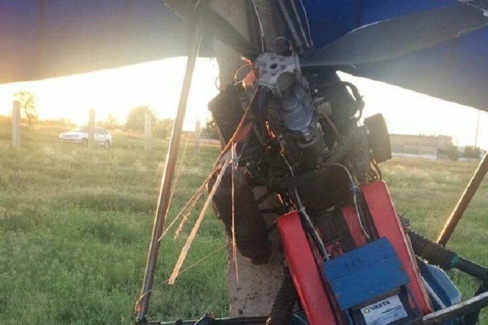 ВВолгограде при посадке разбился пилот мотодельтаплана