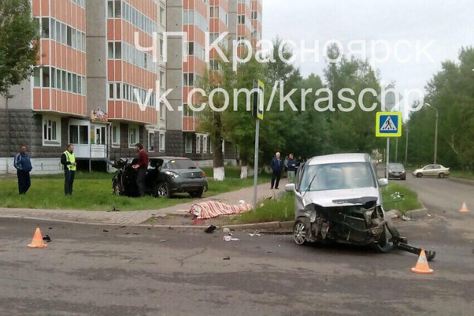 ВКрасноярске вДТП умер мужчина