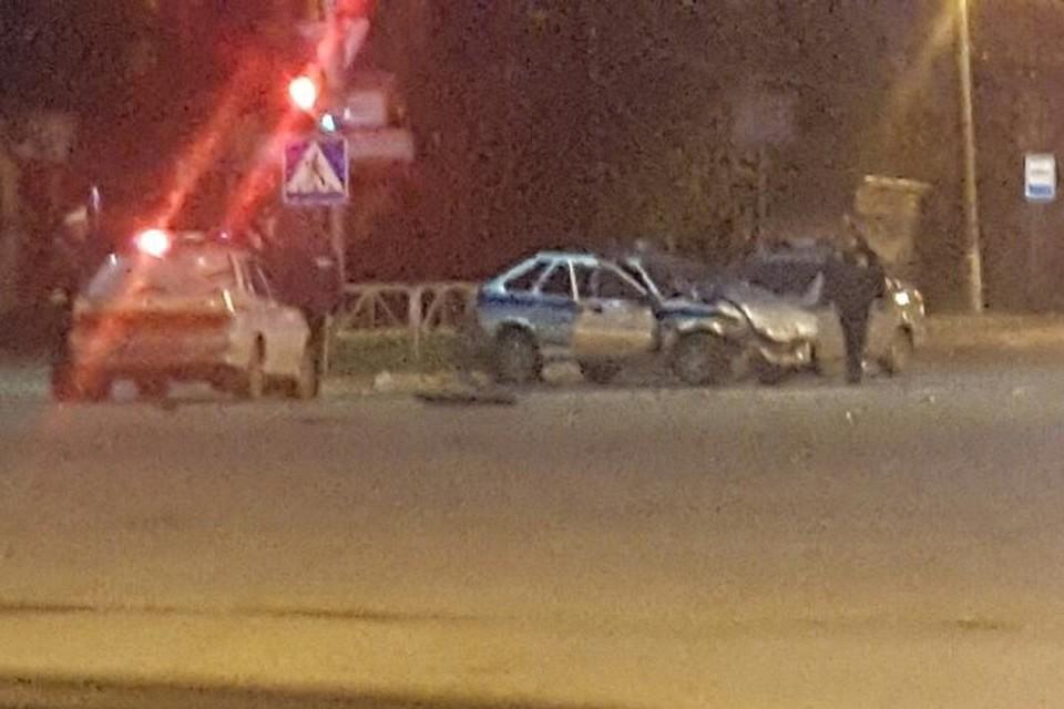 ВБерезниках лихач протаранил авто милиции