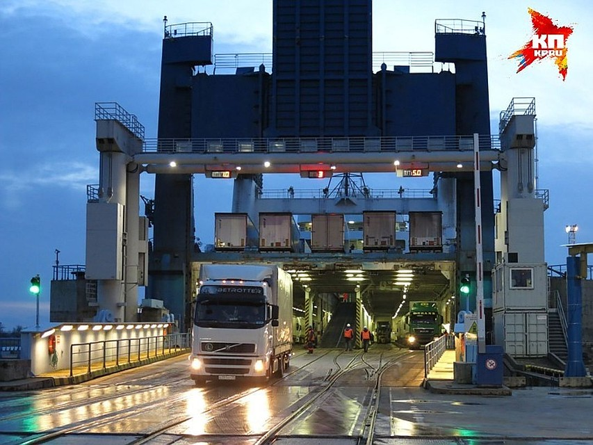В РФ начнется строительство паромов для транспортировки грузов вКалининград