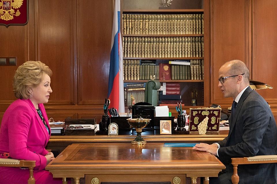 Бречалов иМатвиенко обсудили ситуацию вУдмуртии