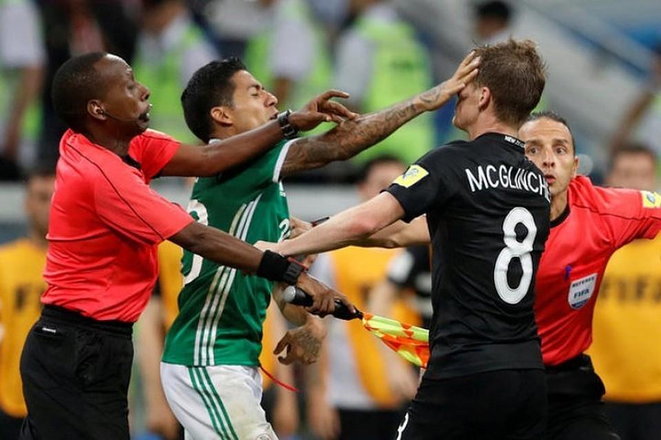 Матч Мексика— Новая Зеландия остановили из-за массовой потасовки