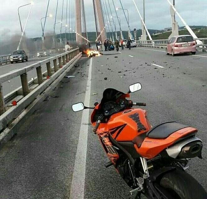 Ужасная авария наЗолотом мосту воВладивостоке