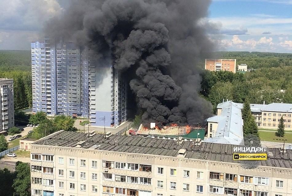 ВНовосибирске произошел пожар встоловой военного училища