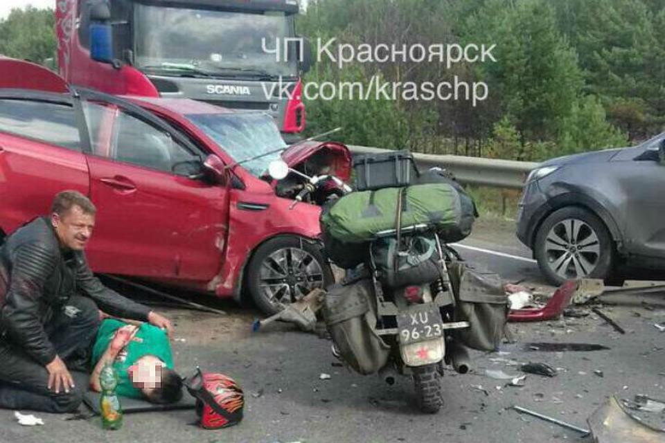 Иностранец спас подростка. ВКрасноярском крае разыскивают иностранного мотоциклиста