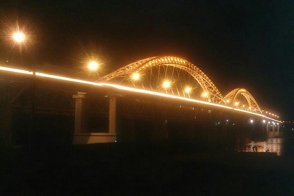 Дублер Борского моста получил архитектурное освещение
