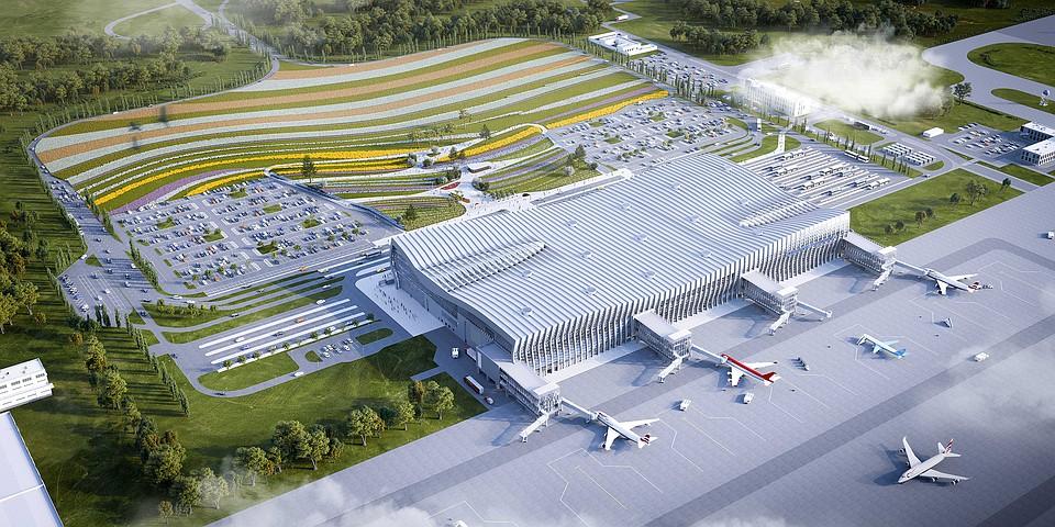 Спроектирован необычайный дизайн-проект территории симферопольского аэропорта
