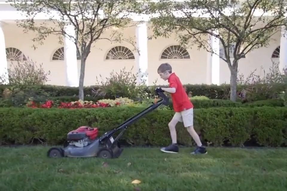 Трамп похвалил 11-летнего газонокосильщика запокос газона Белого дома