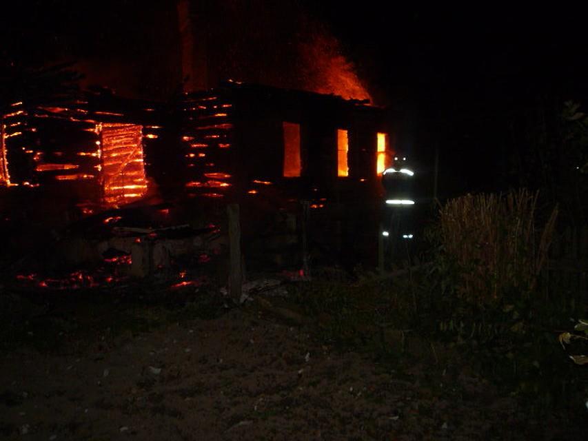 Вдеревне под Чернью сгорел дом исараи