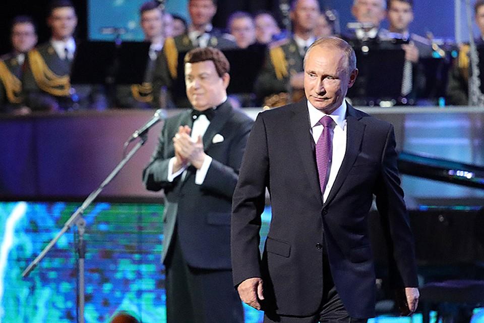 Человеческое спасибо: Путин поздравил Кобзона с80-летием