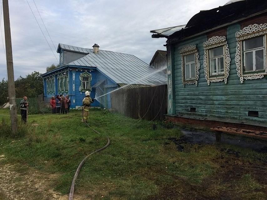 Напожаре вСудогодском районе сгорел 65-летний пенсионер