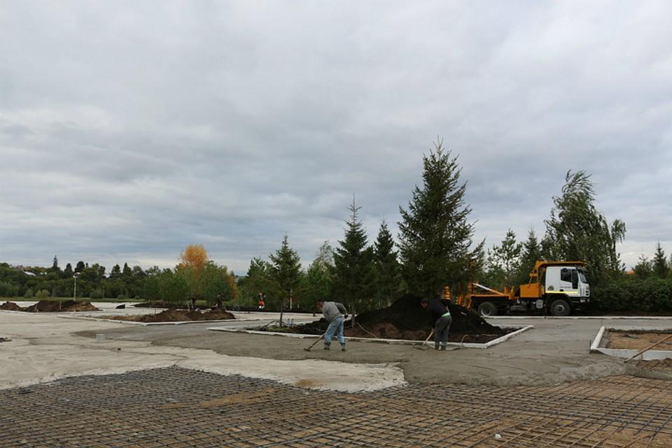 Впарке «Кашкадан» вУфе продолжаются работы пореконструкции