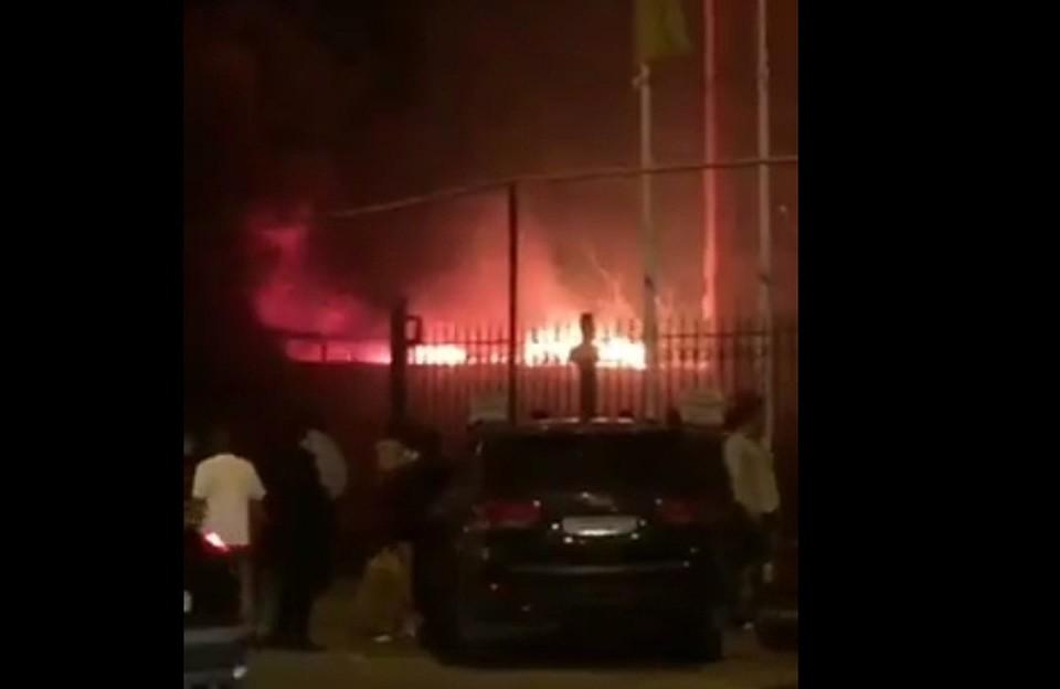 ВКраснодаре горел личный дом наулице Фадеева