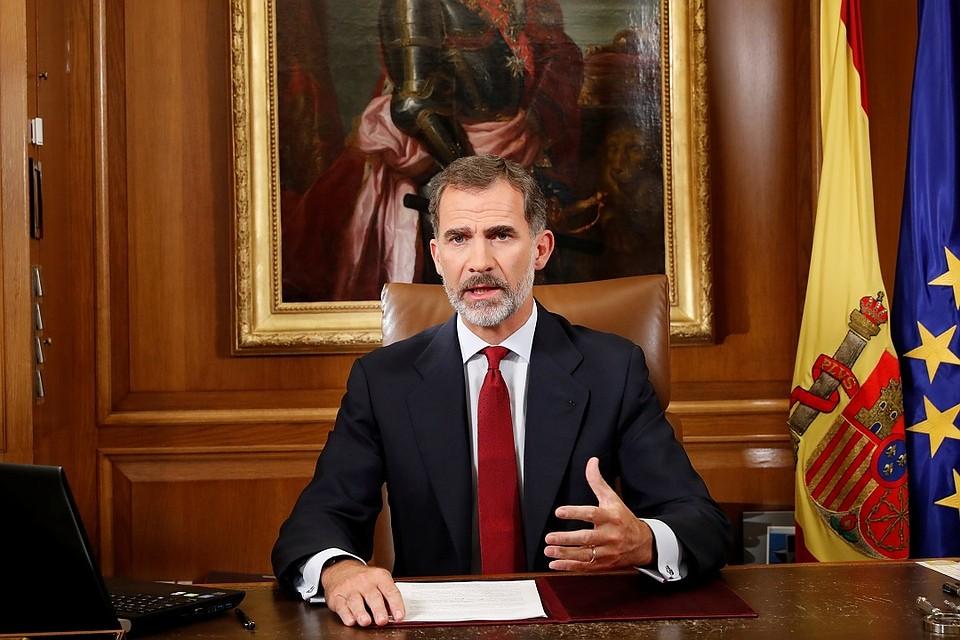 Монарх Испании назвал действия властей Каталонии нелегальными