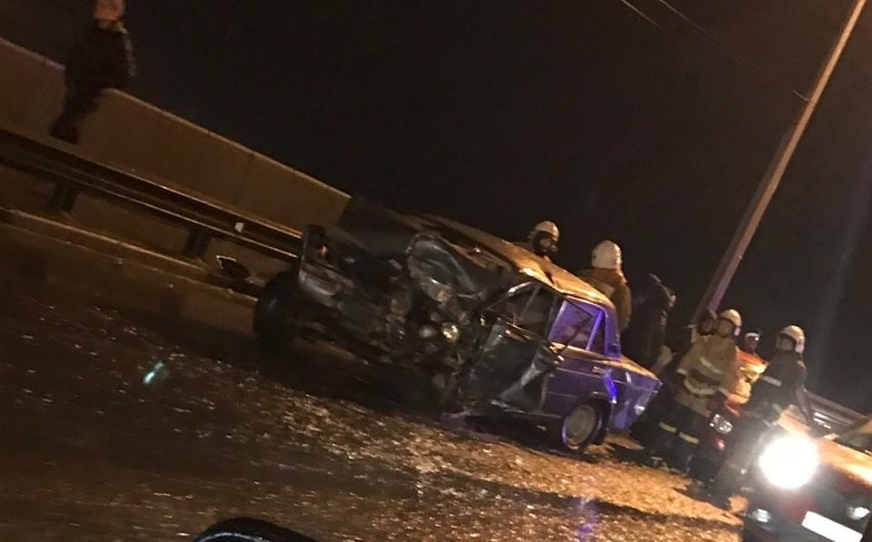 ДТП изчетырех машин наОктябрьском мосту вЯрославле собрало огромную пробку