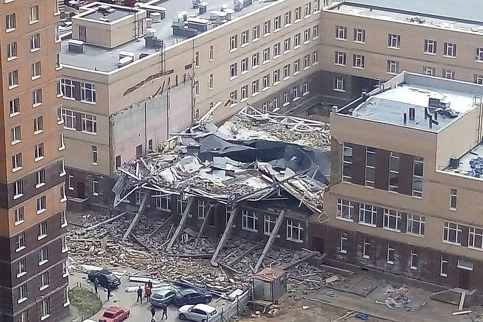 Следователи назвали причину обрушения школы вМурино
