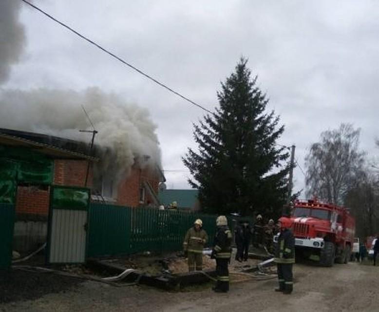 Утром вПлеханово вспыхнул личный дом