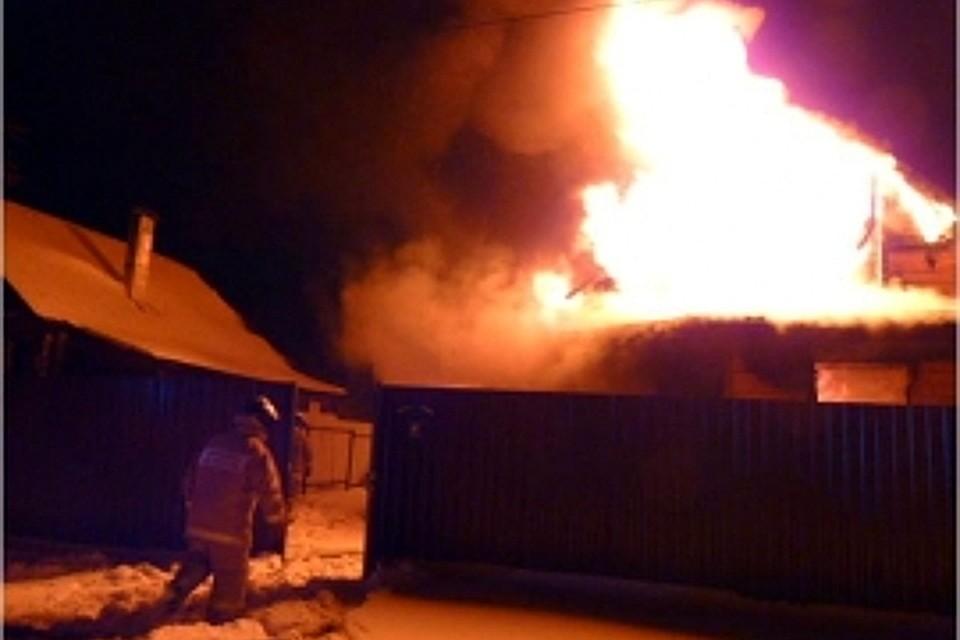ВКимрах сгорел дом