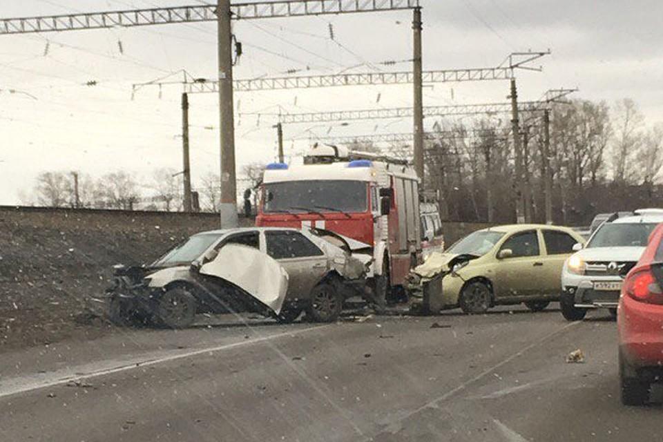 Тройное ДТП случилось  сегодня натрассе врайоне Новоалтайска