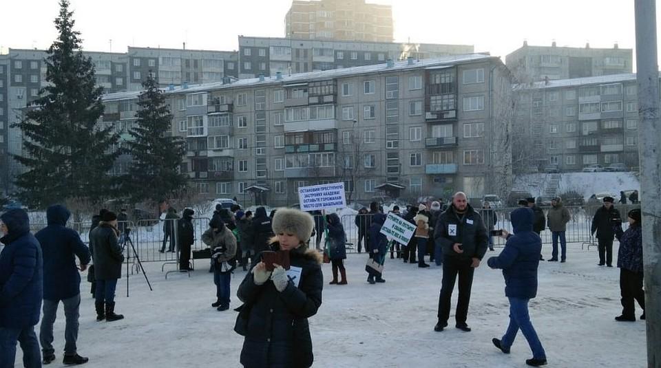 «Зачистое небо»: красноярцев собрал экологический митинг