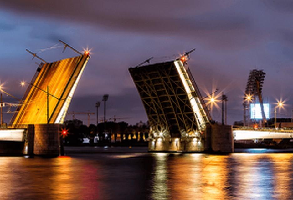 Вночь навторник вПетербурге разведут Тучков мост