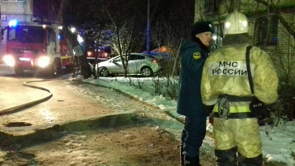 ВТуле загоревшуюся квартиру наЛейтейзена тушили 11 человек