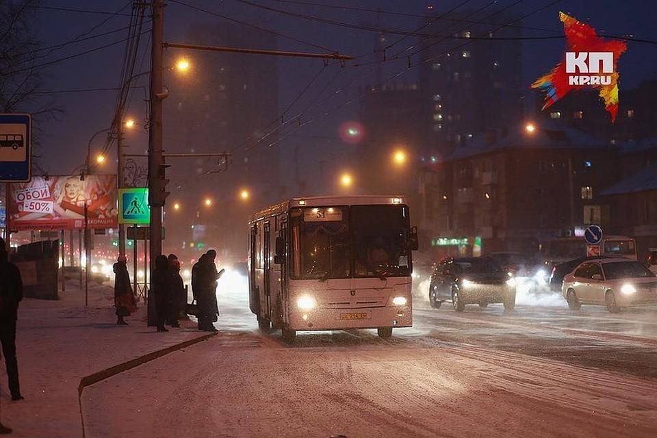 ВКрасноярске вновогоднюю ночь будет работать публичный транспорт