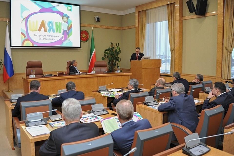 Рустаму Минниханову презентовали новый детский канал нататарском языке