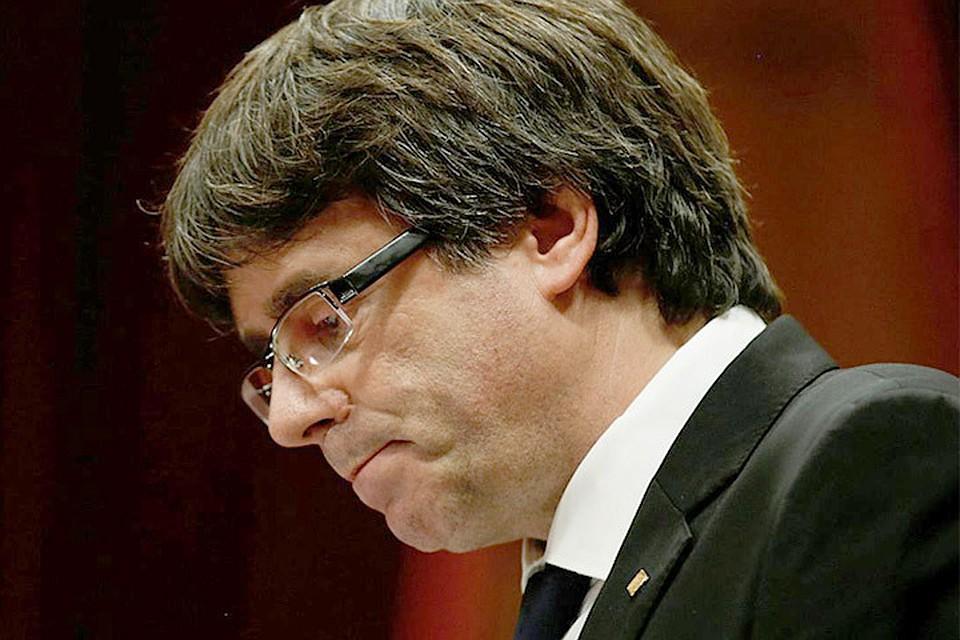 Пучдемон желает управлять Каталонией изБрюсселя