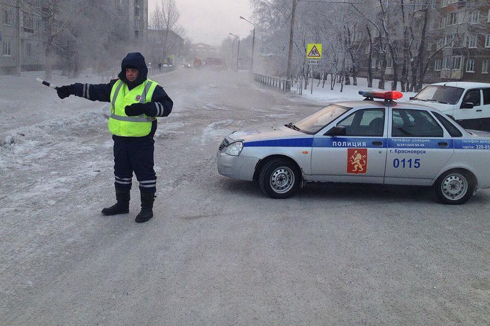 ВКрасноярске наулице Щорса прорвало трубу холодного водоснабжения