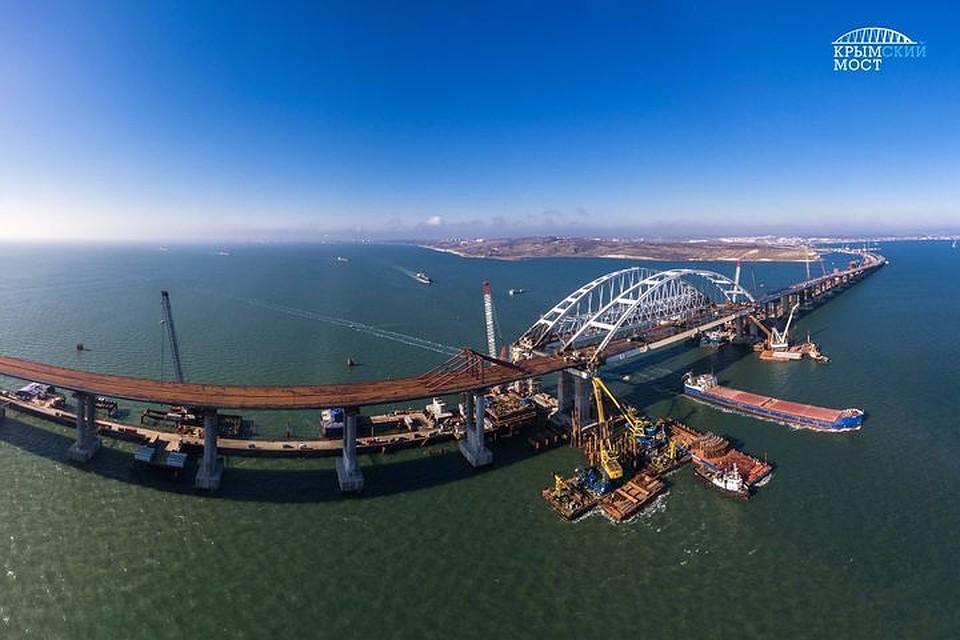 Строители поведали одостигнутых при возведении моста вКрым результатах