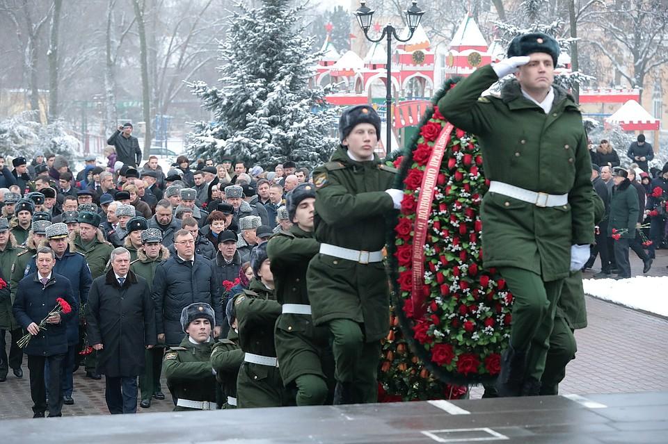 ВРостове-на-Дону отмечают 75-летие освобождения отнемецко-фашистских захватчиков