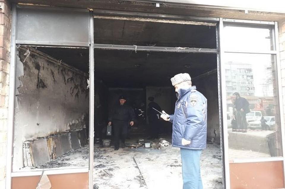 Вмебельном магазине Махачкалы произошел взрыв