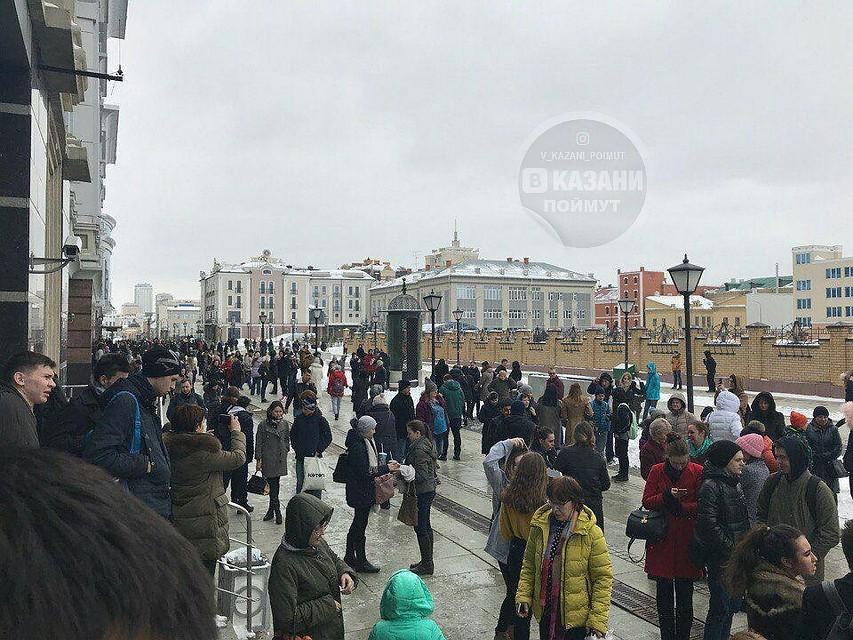 ВКазани эвакуировали гостей 3-х торговых центров