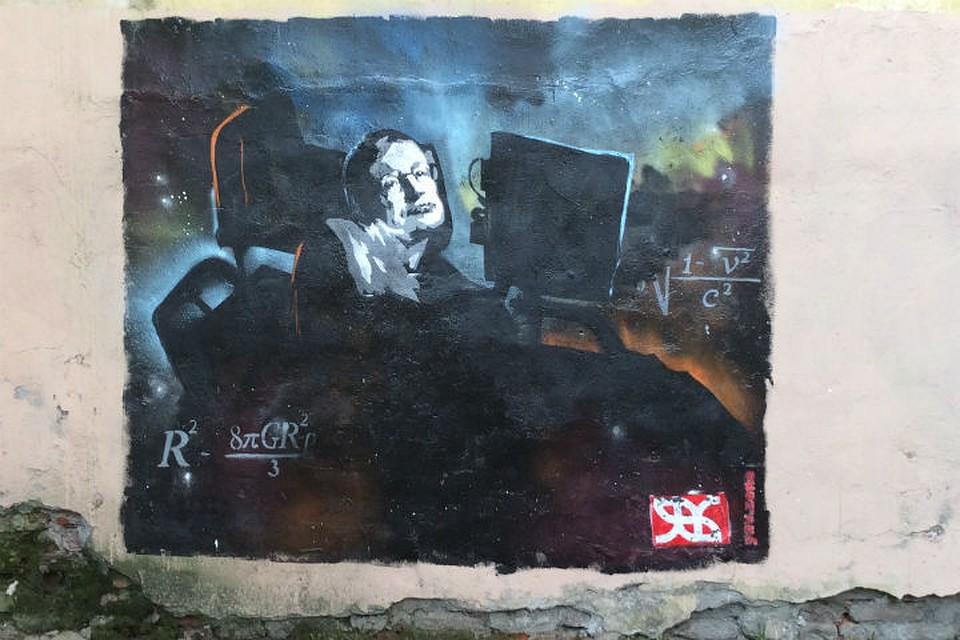 «Онзанимался самым важным»: вПетербурге нарисовали граффити соСтивеном Хокингом