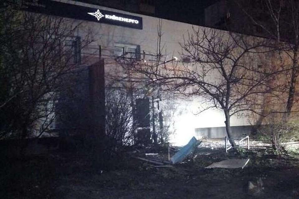 ВКиеве уздания «Киевэнерго» произошел взрыв