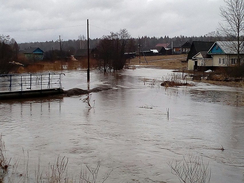 ВПрикамье подтопило два автомобильных моста вКунгурском районе
