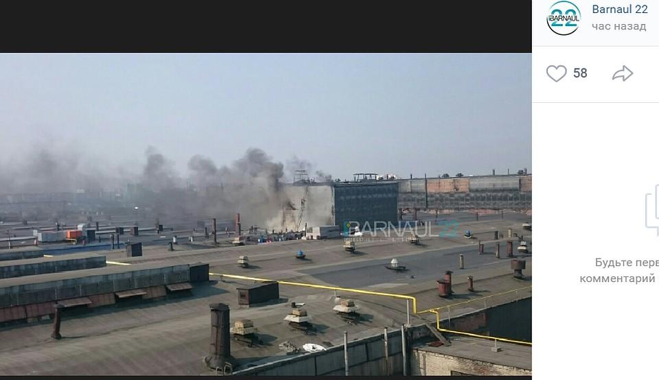 ВМЧС поведали подробности пожара нашинном заводе вБарнауле