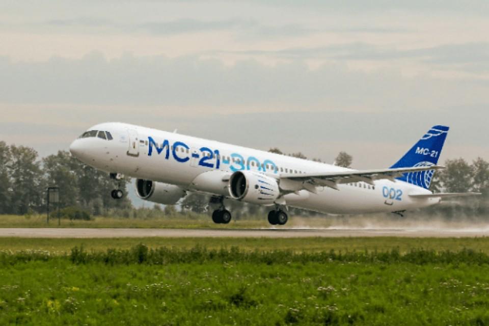 2-ой самолёт МС-21 Иркутского авиазавода совершил перелёт изИркутска вЖуковский