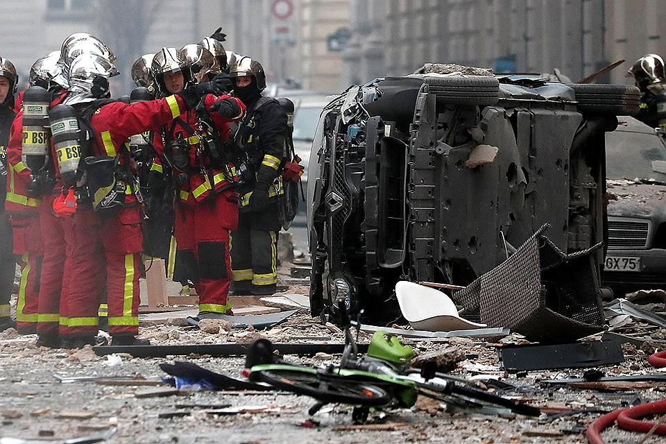 Вцентре Парижа произошел взрыв, есть пострадавшие