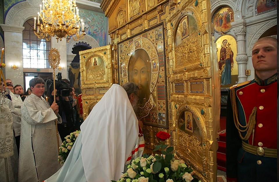 Икона основного храма Вооруженных силРФ «Спас Нерукотворный» прибыла вЕкатеринбург