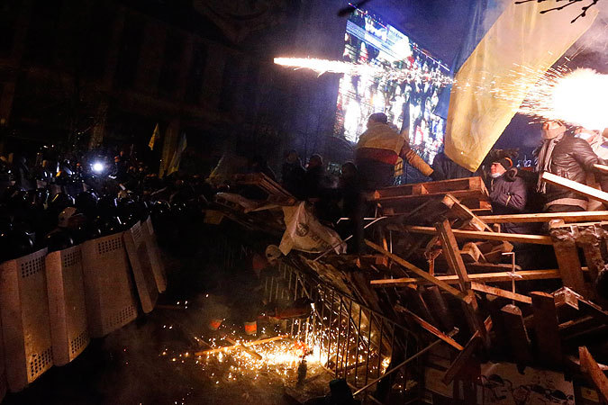 майдан ночью фото