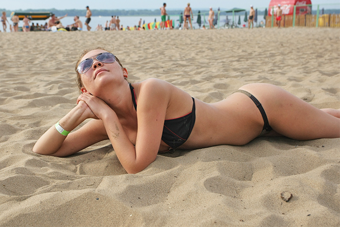 фото девушек на пляжах самары