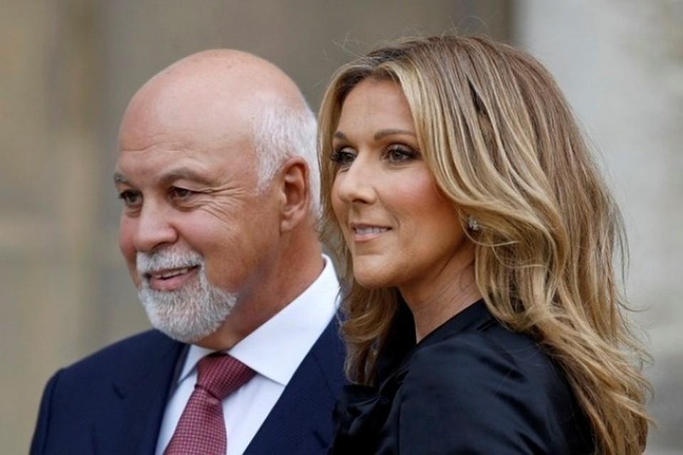Канадская певица Селин Дион с мужем и менеджером Рене Анжелилом
